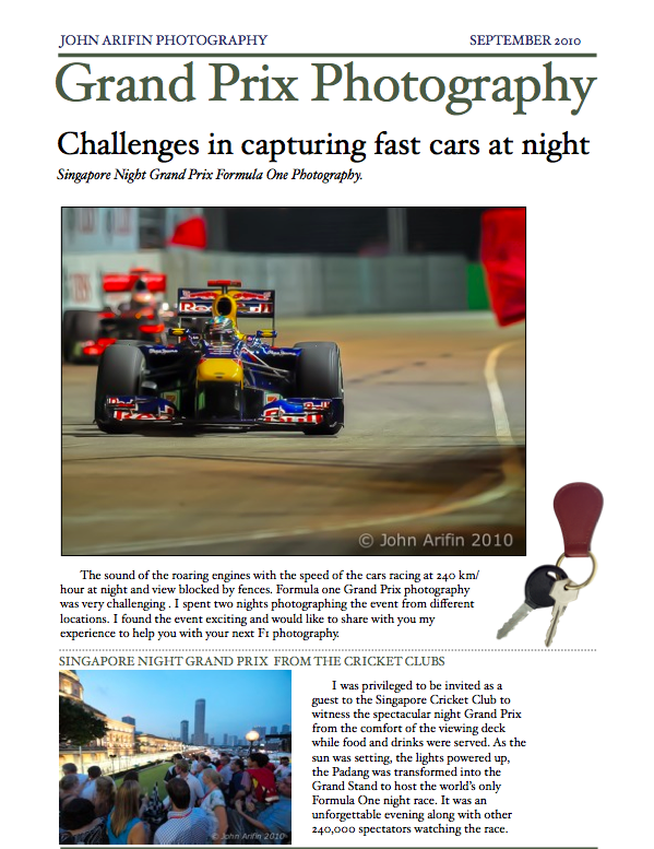 Singapore F1 grand prix photography