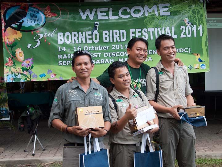 Winners of the bird race from Borneo Rainforest Lodge Team