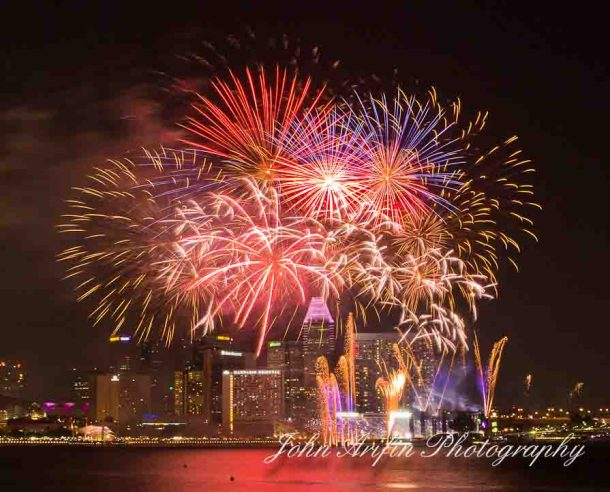Singapore celebrates national day with fireworks