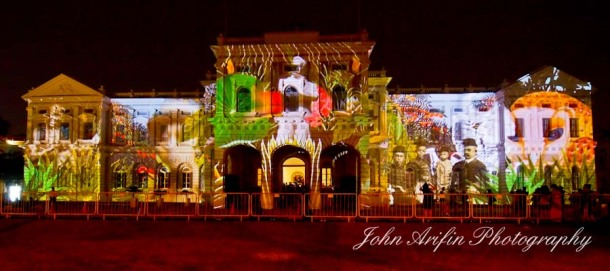Singapore National Museum Night Festival Lightshow 2012