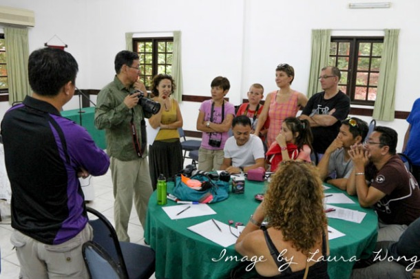 John leading the macro photography workshop in Santubong Sarawak