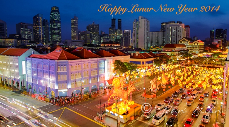 Image of Chinese New Year in China Town Singapore