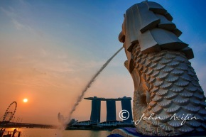 Photo Travel Asia|Early morning walk from the SingaporeMerlion