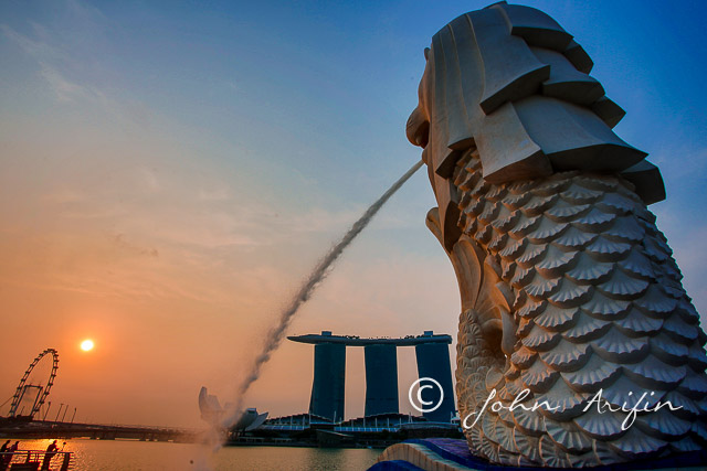 Photo Travel Asia Early morning walk from the Singapore Merlion