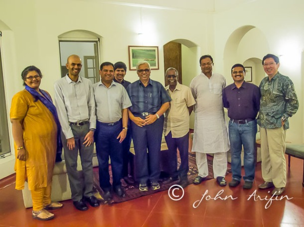 Dinner hosted by Mr Sanjay Jayavarthanavelu
