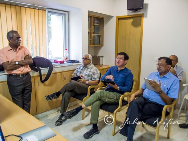 Kris, Jayakumar, myself and Dr Sinha screening through the 3500 images in Coimbator